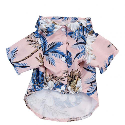 Summer Beach Shirts Dog Cute Hawaii Casual Pet Cat Clothing Floral T Shirt For Small Dogs.jpg 640x640 2 Trafoos Summer Beach Shirts for Dog Cute Hawaii Casual Pet Cat Clothing Floral T Shirt For Small Dogs Summer Beach Shirts for Dog